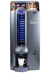 """Bistro M2, machine distribuitrice à café disponible en couleur """"silver"""" ou """"titanium""""."""