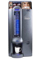 """Bistro M2L, machine distribuitrice à café avec lait, disponible en couleur """"silver"""" ou """"titanium""""."""
