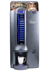 """Bistro R, machine distribuitrice à café disponible en couleur """"silver"""" ou """"titanium""""."""