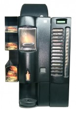 DM + counter top coffee vending machine is a good choice for 40 to 75 coffees weekly.