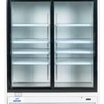 Danair merchandiser refrigerator, 2 sliding glass doors, 53 inches wide.