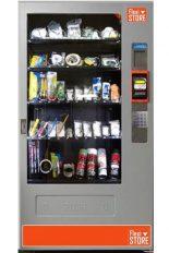 FlexiStore est une machine distributrice industrielle qui sert de magasin 7/7 24/24 avec système d'identification par employé