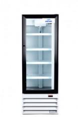 réfrigérateur commercial 1 porte battante vitrée 22 pouces de large