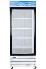 réfrigérateur commercial 1 porte battante vitrée 29 pouces de large