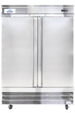 """Réfrigérateur commercial inox 2 portes, 54"""" de large de Danair."""