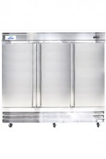 Réfrigérateur commercial inox 3 portes battantes 80 po