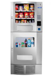Deli Duo combo vending machine for snacks and cold drinks