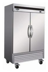 Réfrigérateur commercial inox 2 portes battantes fermées 54