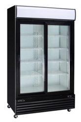 réfrigérateur noir 2 portes coulissantes vitrées 53 peu profond