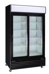 réfrigérateur noir 2 portes coulissantes vitrées 53 profond