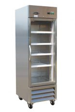 Stainless steel commercial refrigerator 1 glass swinging door 27