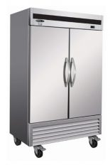Stainless Steel Commercial Refrigerator 2 Closed swinging doors 54