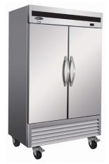 """You want to buy a new freezer for your projects, choose our stainless steel commercial freezer 2 closed swinging doors 54"""""""