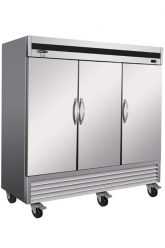 Stainless steel commercial refrigerator 3 closed swinging doors 81