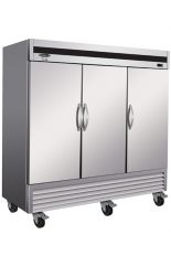 Stainless steel commercial freezer 3 closed swinging doors 81